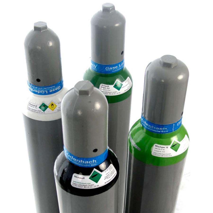 Argonflasche-Schutzgasflasche-Stickstoffflasche-Sauerstoffflasche-Gasflasche-10L