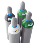 Verschiedene Gasflaschen 20L (Argon, Schutzgas, Stickstoff, Sauerstoff)