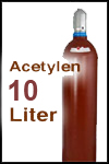 Kaufflasche Acetylen 10 Liter gefüllt