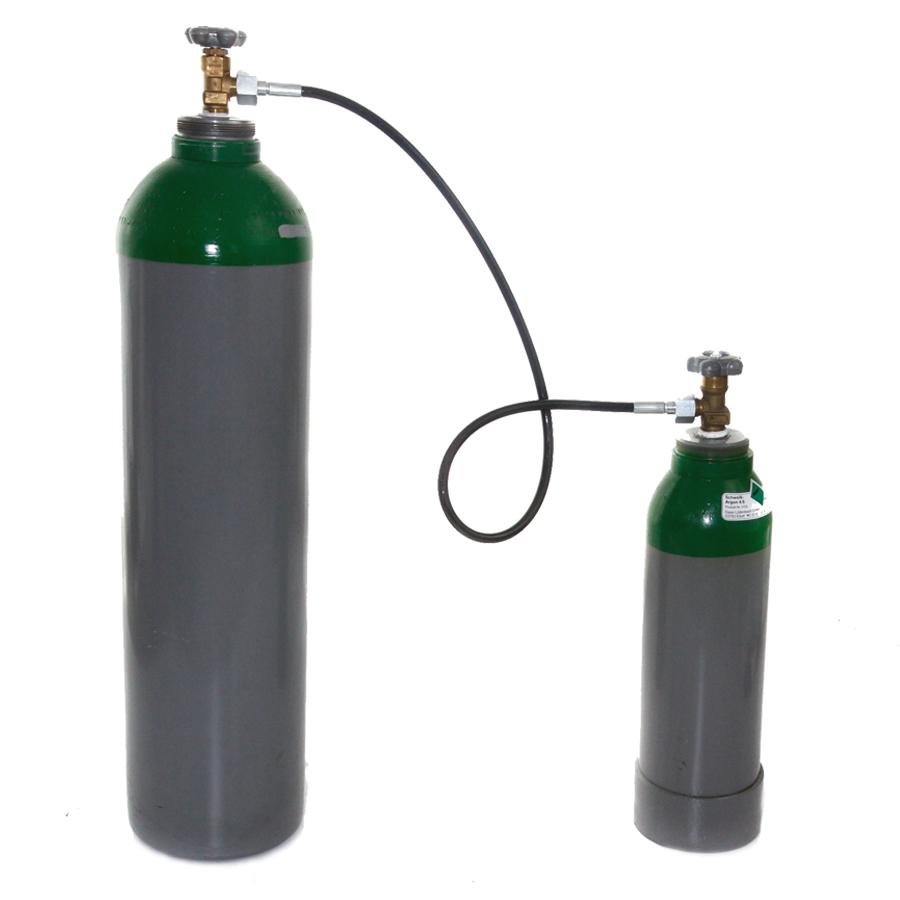 Umfuellschlauch-f-Gasflasche-Argon-Schutzgas-Stickstoff-Druckluft-1m-Umfuellbogen